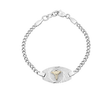 Figaro Link Medical Bracelet 7.5""