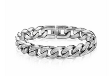 Cuban Link Stone Setting Bracelet 14mm