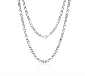 "Curb Link Choker Necklace 14""+1"" - 4mm"