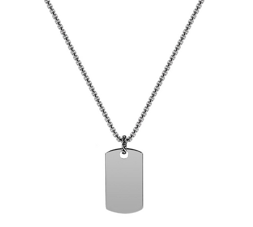 Dog Tag Pendant W/ Chain 28