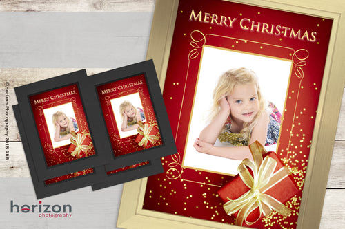Christmas Gift 12x8 Framed Print + 4 PHOTO-CARDS FREE!