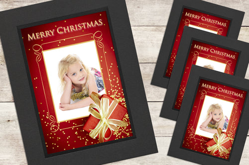 Christmas Photo-Cards - Present - Pack of 4 (or more)