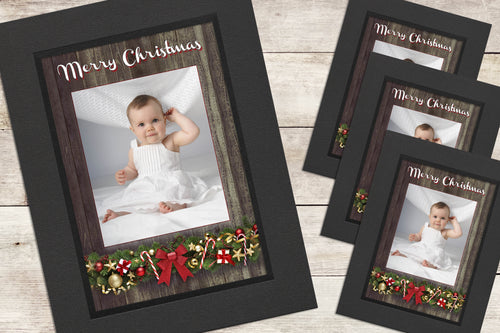 Christmas Photo-Cards - Driftwood - Pack of 4 (or more)