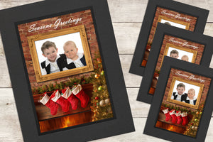 Christmas Photo-Cards - Fireplace - Pack of 4 (or more)