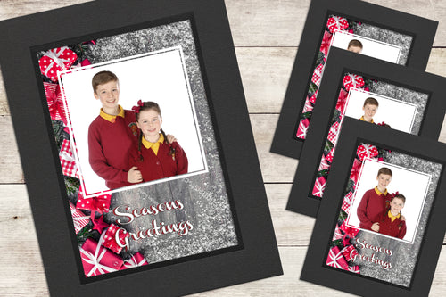Christmas Photo-Cards - Snow - Pack of 4 (or more)