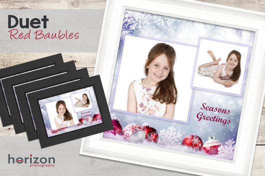 Duet - Red Baubles - Special Framed Product + 4 Free Photo-Cards