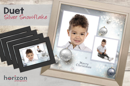 Duet - Silver Snowflake - Special Framed Product + 4 Free Photo-Cards
