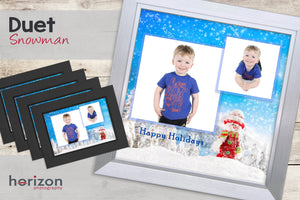 Duet - Snowman - Special Framed Product + 4 Free Photo-Cards