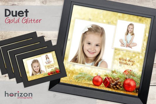 Duet - Gold Glitter - Special Framed Product + 4 Free Photo-Cards