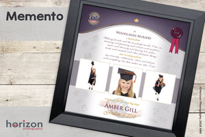 The Memento Graduation - Special Framed Product