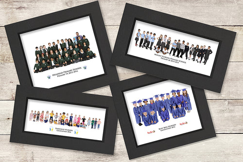 24 x 8 inch Group Photograph