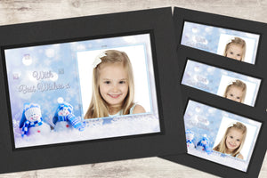 Christmas Photo-Cards - Snowmen - Pack of 4 (or more)