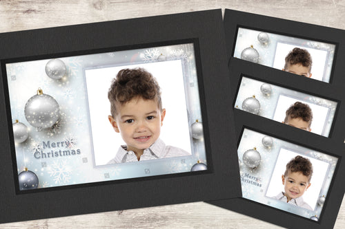 Christmas Photo-Cards - Snowflakes - Pack of 4 (or more)