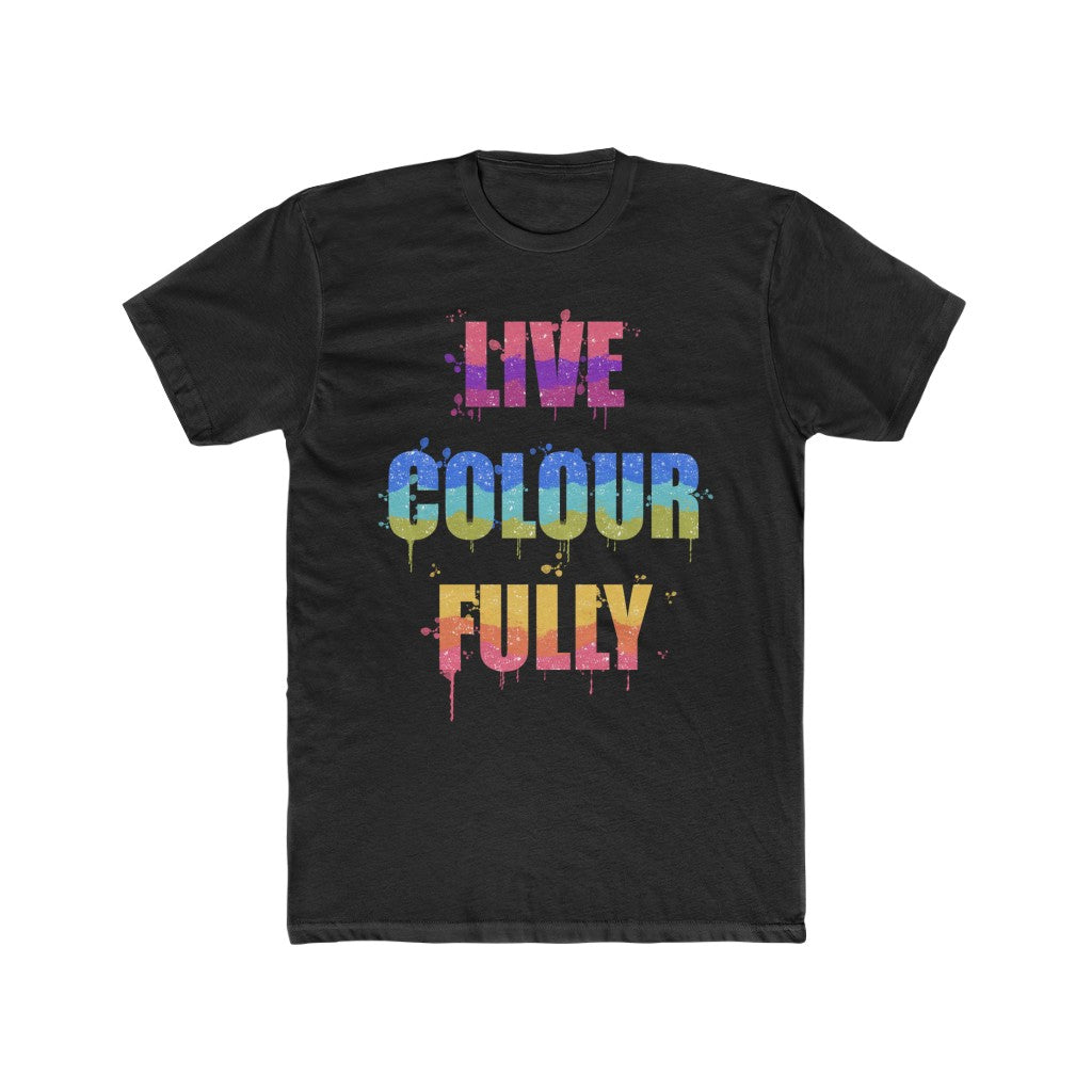 Men's Live Colourfully Cotton Crew Tee