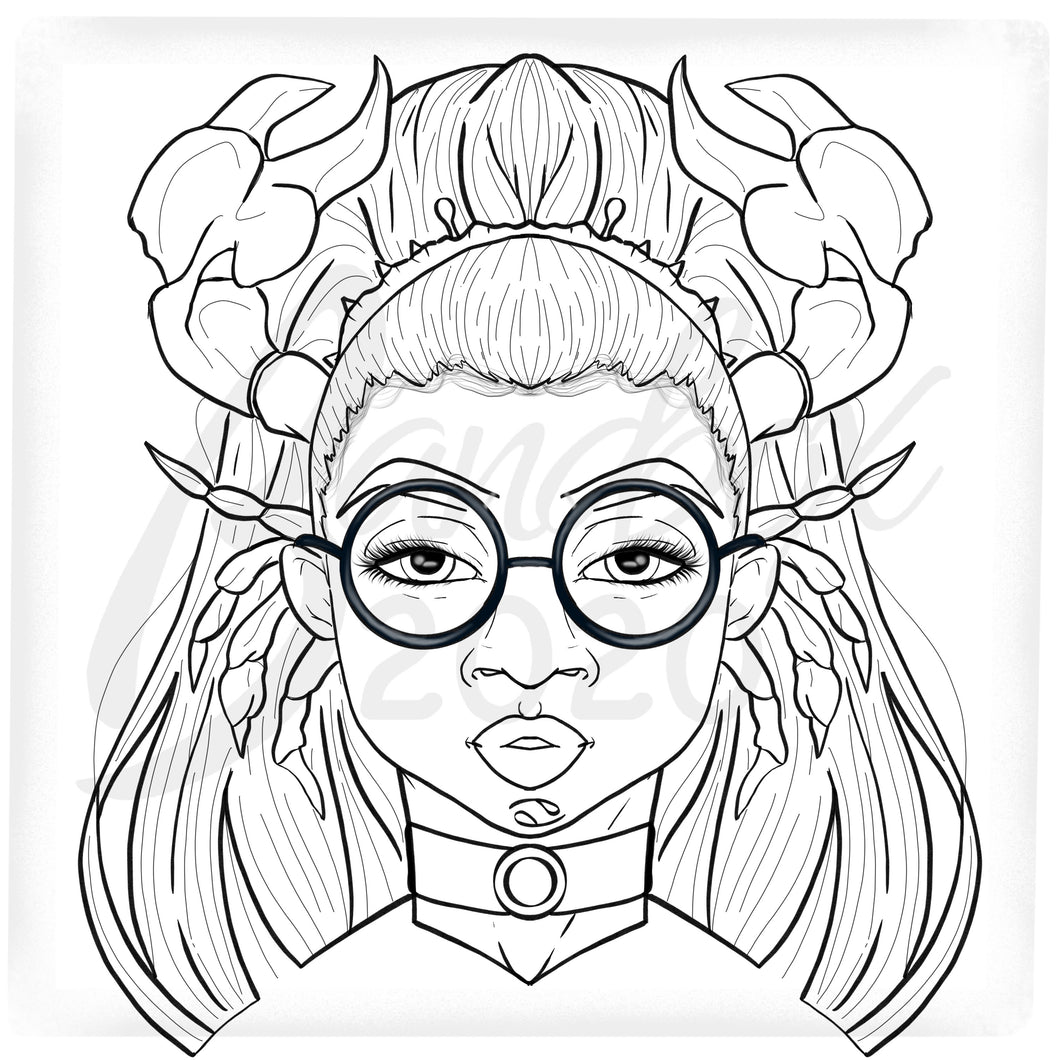 Zodiac *Cancer* Digital Colouring Page