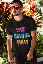 Load image into Gallery viewer, Men's Live Colourfully Cotton Crew Tee