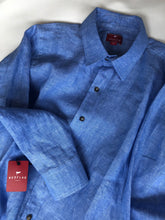 LONG SLEEVE BLUE LINEN SHIRT