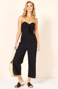 Bow Cropped Playsuit/Final Sale
