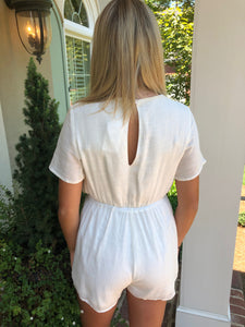 Blanca White Romper (FINAL SALE)