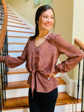 The Charlotte Animal Print Blouse