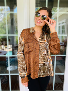 The Stella Mix Print Blouse (FINAL SALE)
