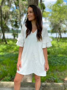 Ivory Shift Dress (FINAL SALE)