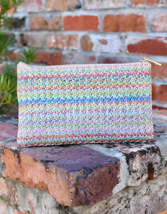 Woven Pastel Straw