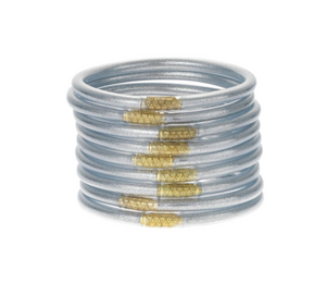 BuDhaGirl/Silver Bangles set of 9