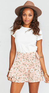 Daisy Duke- MUMU Twirl Wrap Skirt FINAL SALE