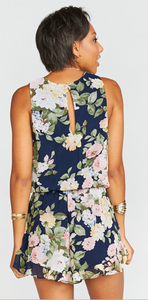 Party Blossom- MUMU Riri Romper FINAL SALE