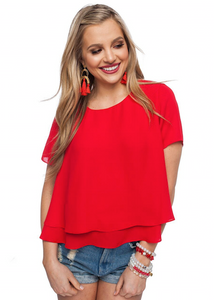 Georgia Red Crop Top