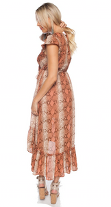 Gillian Desert Snake Dress