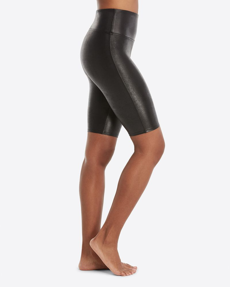 SPANX Faux Leather Biker Short