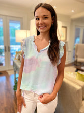 Karlie / Tie Dye Ruffle Sleeve Top (FINAL SALE)