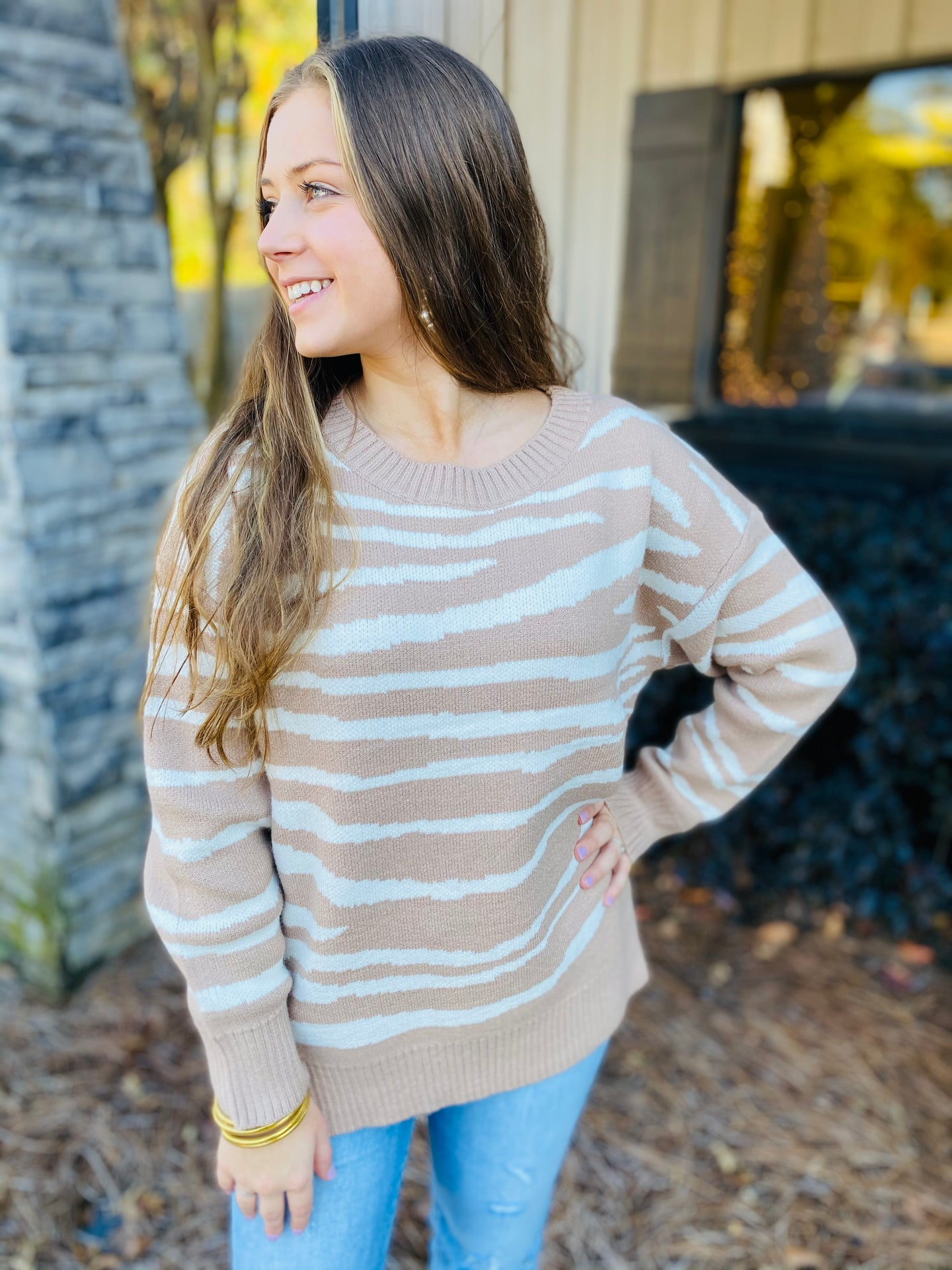 The Freya Zebra Sweater