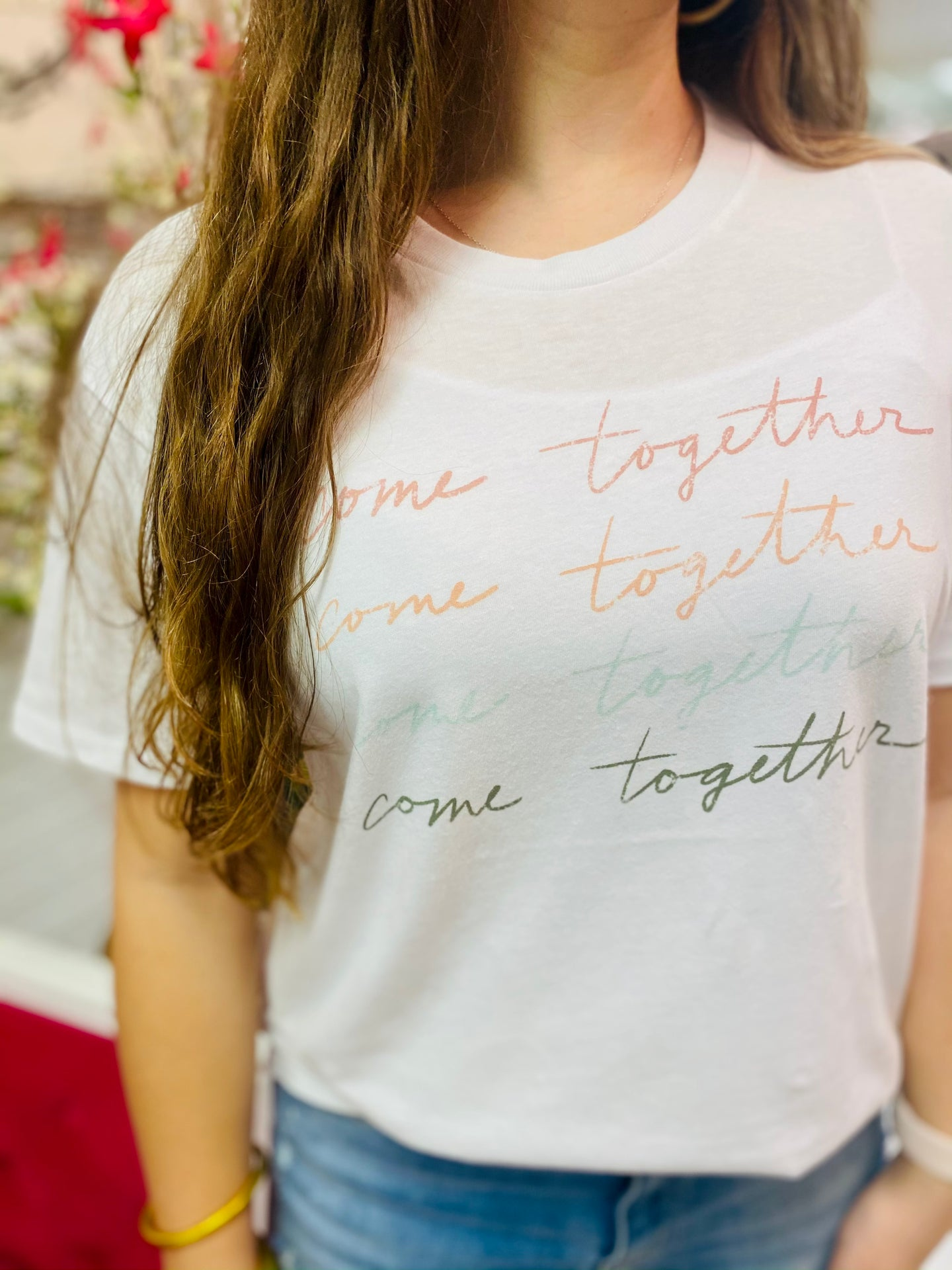 Come Together Tee in White