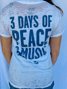 Woodstock 3 Days of Peace Tee