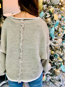The Heather Taupe Sweater