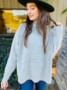 The Kendall Mock Neck Sweater