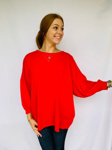 The Brianna Balloon Sleeve Top