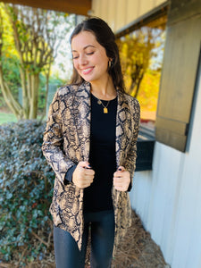 The Myla Snakeskin Blazer