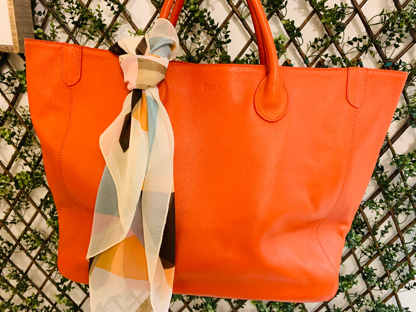 Beck Bags/Large Orange Tote (FINAL SALE)