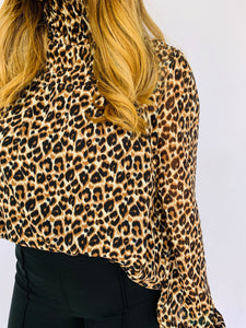 The Emerson Smocked Cheetah Top