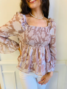 The Luciana Smocked Blouse