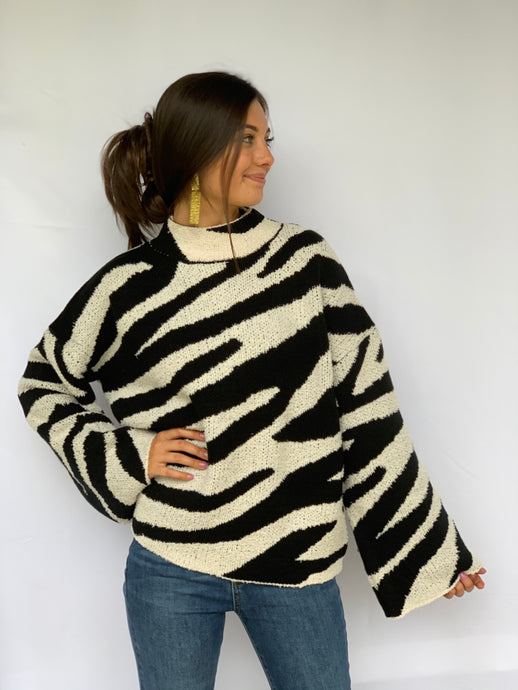 The Eden Zebra Sweater