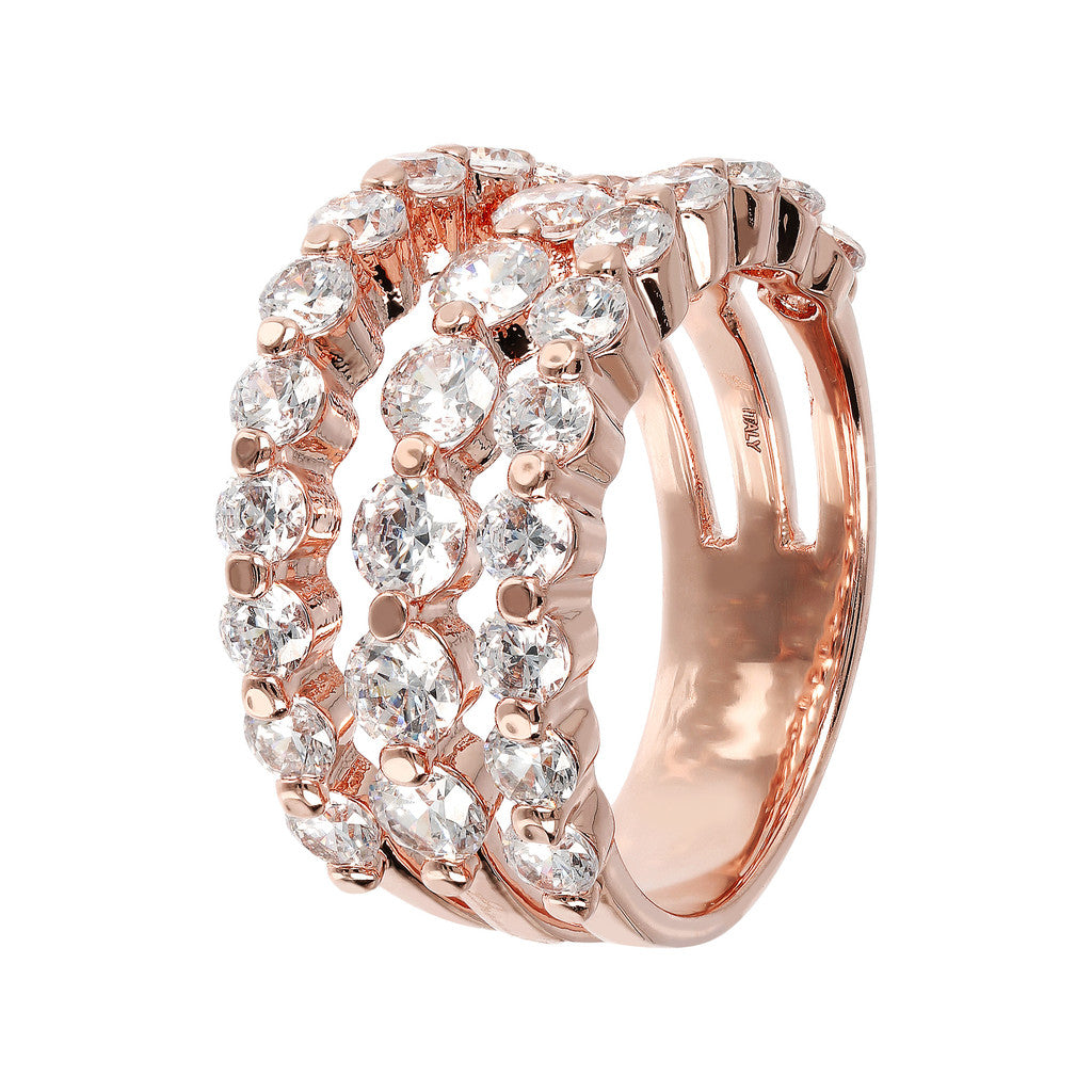 3 Row Riviera Ring