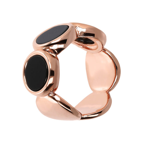 Bronzallure | Rings | ALBA 8MM FLAT DISC STONE RING - WSBZ01756