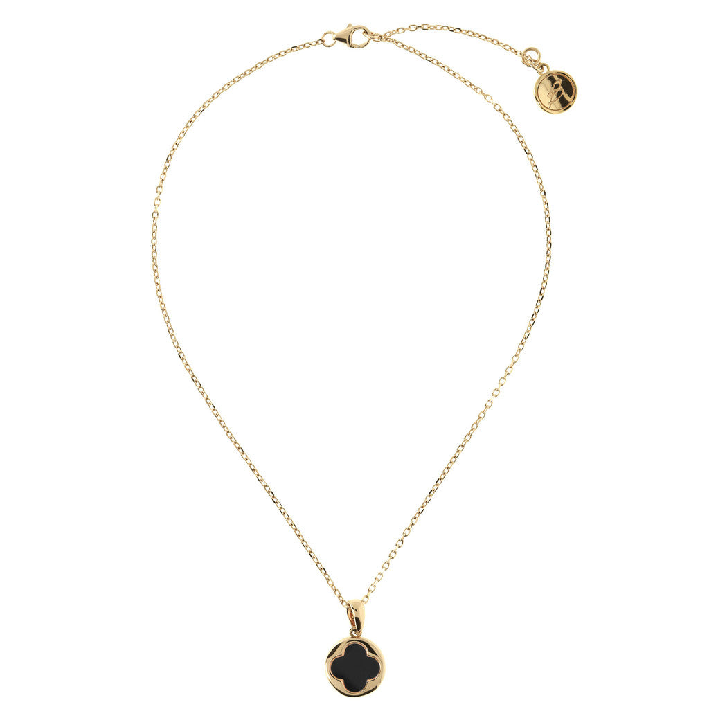 ALBA BRONZALLURE GOLDEN SHINY PENDANT WITH CULTURED FLOWER MOP - WSBZ00916Y from above