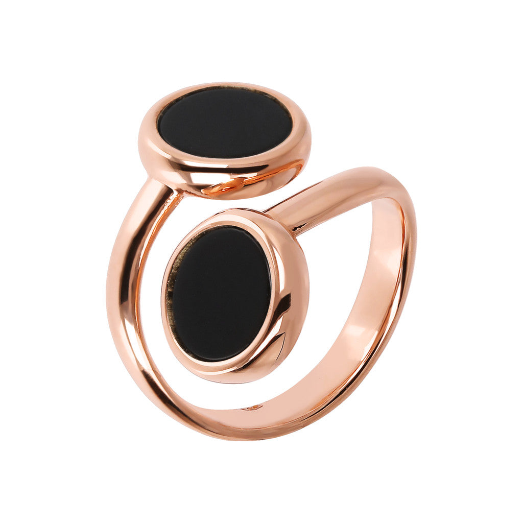 Bronzallure | Rings | ALBA CONTRAIRE 8MM FLAT DISC STONE RING - WSBZ01757