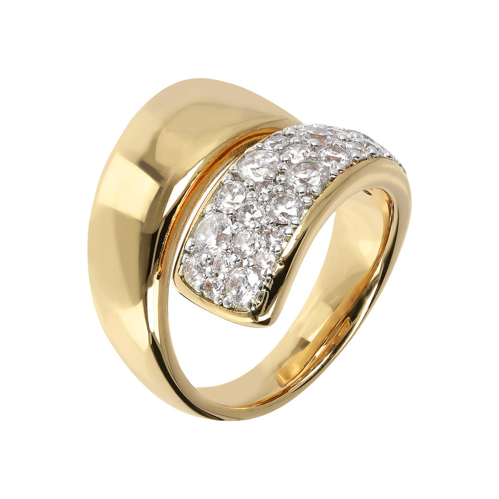 Bronzallure | Rings | ALTISSIMA ALTISSIMA BRONZALLURE GOLDEN SHINY CZ GEMSTONE DOUBLE BAND RING - WSBZ01429Y